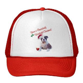 Bulldog Wishes for Pawsitively Wonderful Christmas Trucker Hat