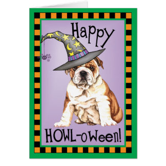 Bulldog Witch Card
