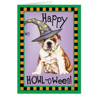 Bulldog Witch Greeting Card