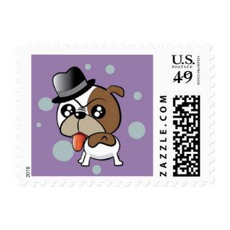 Bulldog with a Silk Hat Postage