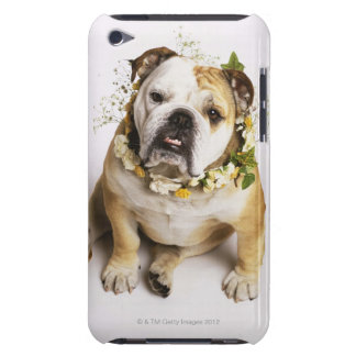 Bulldog with flower collar iPod Case-Mate case