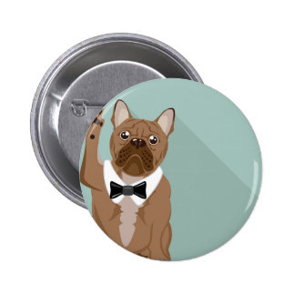 Bulldog with paw up button