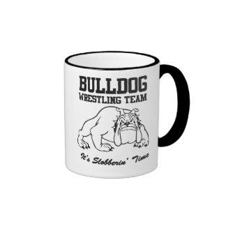 Bulldog Wrestling Team Ringer Mug