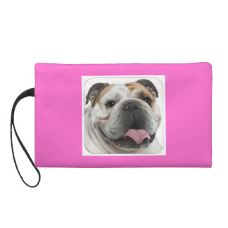 BULLDOG WRISTLET PURSE