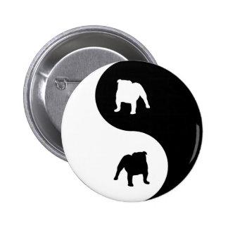 Bulldog Yin Yang Pinback Buttons