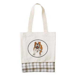 Bulldog Zazzle HEART Tote Bag