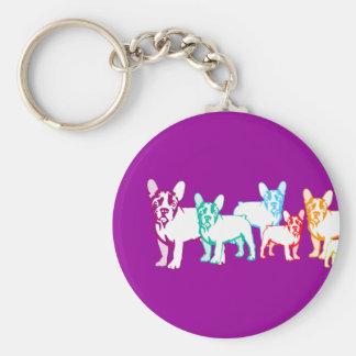 Bulldoges franceses regalos llavero personalizado