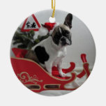 Bulldoges franceses Weihnachtsanhänger