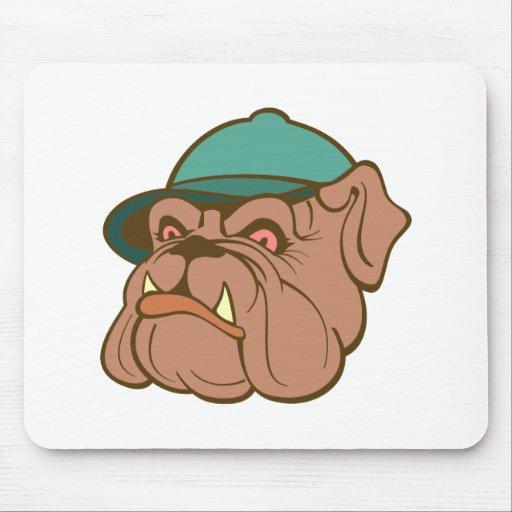 Bulldogge bulldog cap cap mouse pad