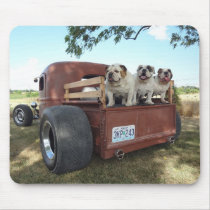 Bulldogs and Rat Rods Mousepad