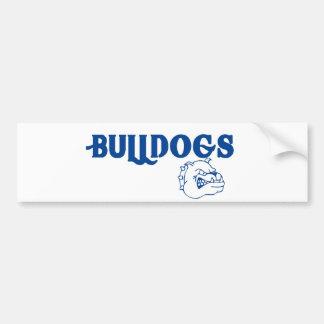 Bulldogs Car Bumper Sticker