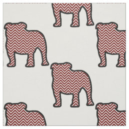 Bulldogs chevron maroon fabric