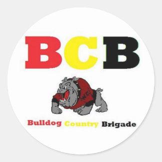 bulldogs classic round sticker