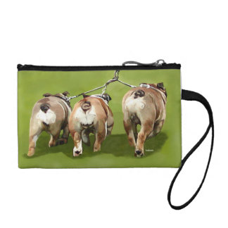 Bulldogs Coming and Going Purse Coin Wallet