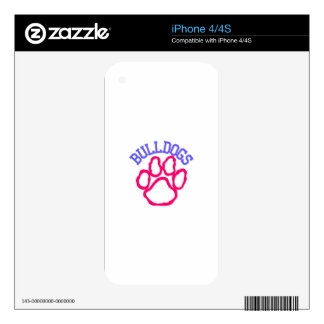 Bulldogs Decals For The iPhone 4S