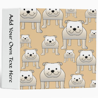 Bulldogs Design, in Neutral Colors. Binder