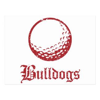 Bulldogs Golf Postcard