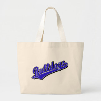 Bulldogs in Blue Canvas Bag