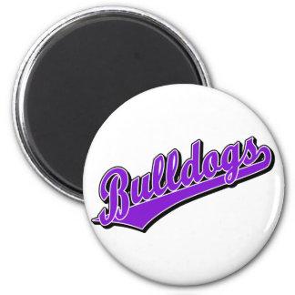 Bulldogs in Purple 2 Inch Round Magnet