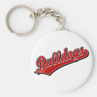 Bulldogs in Red Keychain