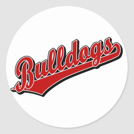 Bulldogs in Red Stickers