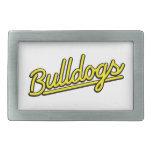 Bulldogs in yellow belt buckle