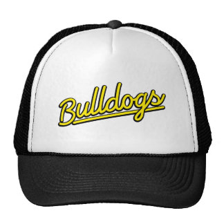 Bulldogs in yellow trucker hat