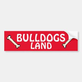 Bulldogs Land Bumper Sticker