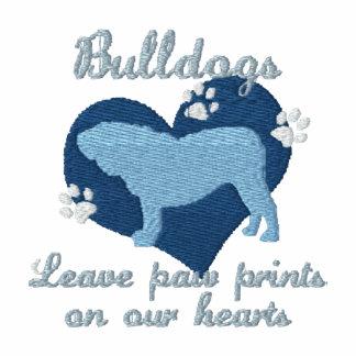 Bulldogs Leave Paw Prints Blue Polo