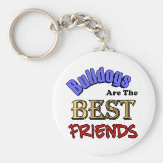 Bulldogs Make The Best Friends Keychain