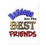 Bulldogs Make The Best Friends Postcard