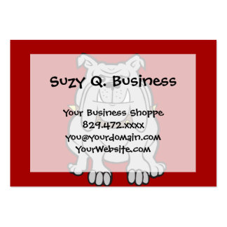 Bulldogs Mascot on Red Dog Lover Gifts Large Business Cards (Pack Of 100)