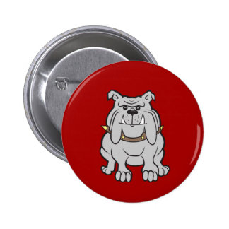 Bulldogs Mascot on Red Dog Lover Gifts Button