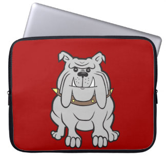 Bulldogs Mascot on Red Dog Lover Gifts Laptop Computer Sleeve