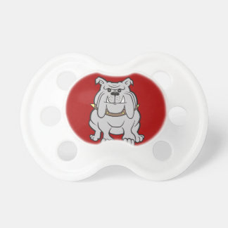 Bulldogs Mascot on Red Dog Lover Gifts Baby Pacifiers