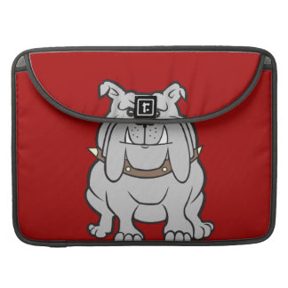 Bulldogs Mascot on Red Dog Lover Gifts Sleeve For MacBooks