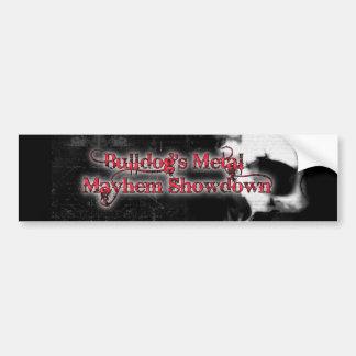 Bulldog's Metal Mayhem Bumper Sticker