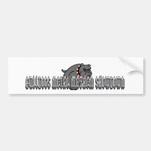 Bulldogs Metal Mayhem Bumper Sticker