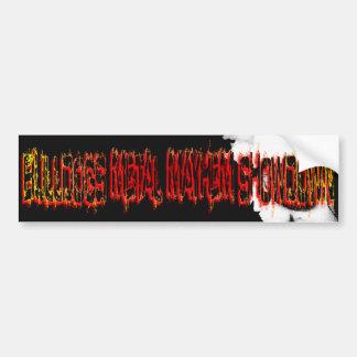 Bulldogs Metal Mayhem Showdown Bumper Sticker