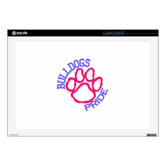 """Bulldogs Pride Decals For 17"""" Laptops"""