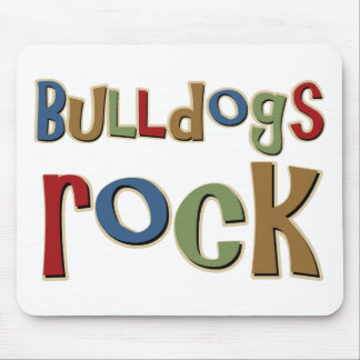 Bulldogs Rock Mouse Pad
