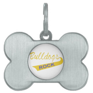 Bulldogs Rock Pet ID Tag