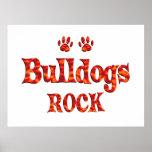 Bulldogs Rock Poster