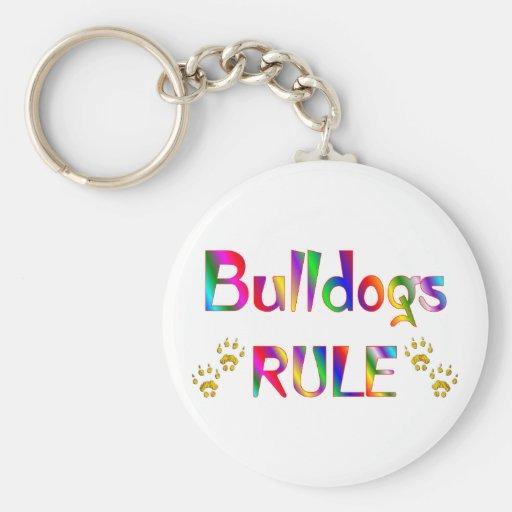 Bulldogs Rule Keychain