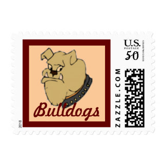 Bulldogs School Mascot postage stamp