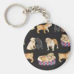 Bulldogs & Shar Peis Keychains