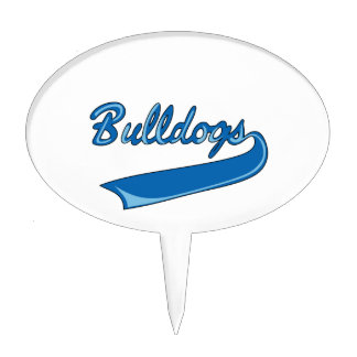 BULLDOGS SPORTS TEAM CAKE TOPPERS