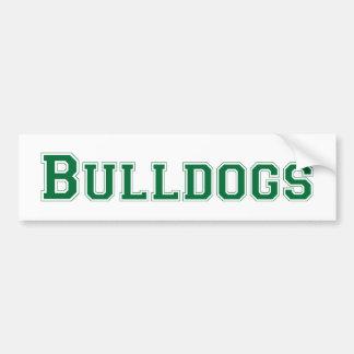 Bulldogs square logo  in green car bumper sticker