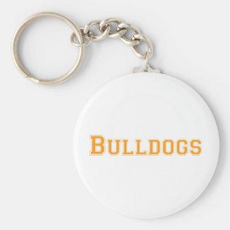 Bulldogs square logo  in orange keychain