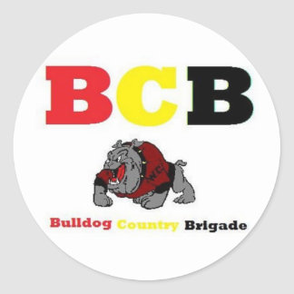 bulldogs round stickers